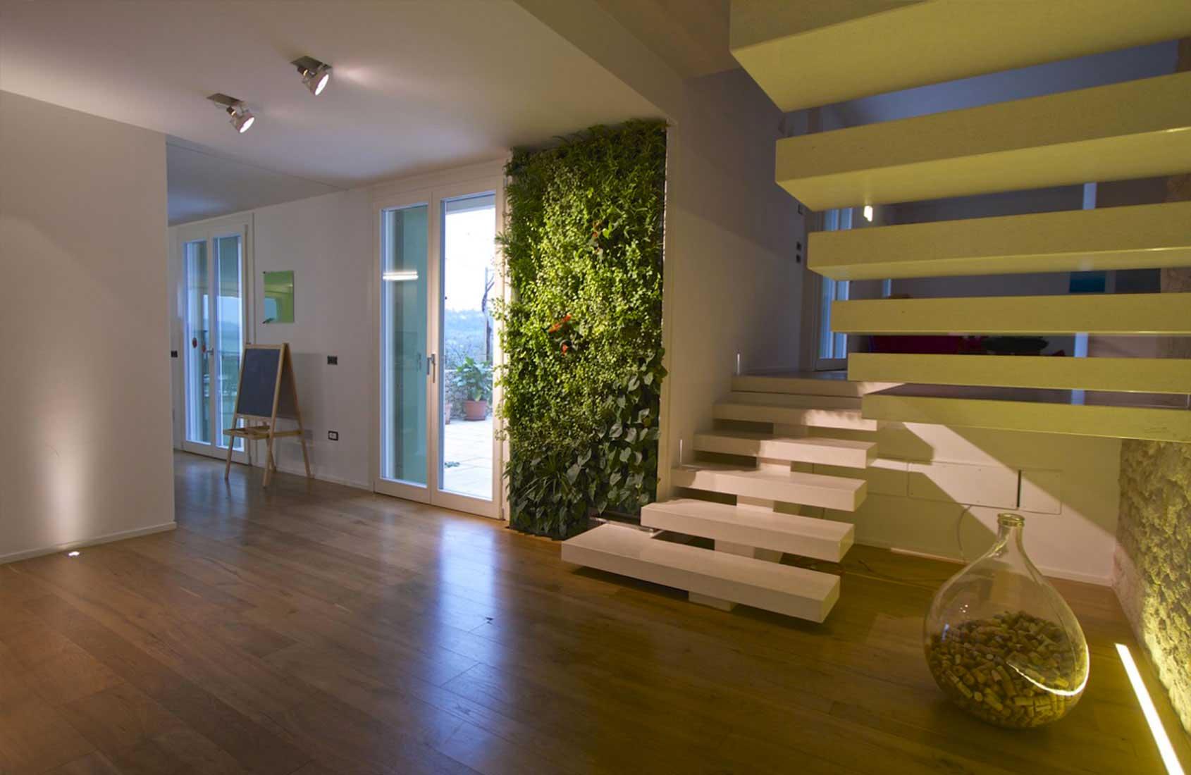 Realizzazione giardini verticali brescia milano 3g giardini - Giardino verticale interno ...